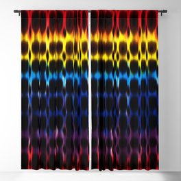 Digital Rainbow Hippie Tie-Dye Blackout Curtain