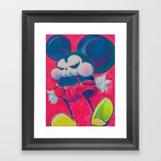 fatty skinny mickey skull Framed Art Print
