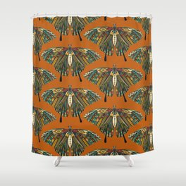 swallowtail butterfly copper Shower Curtain