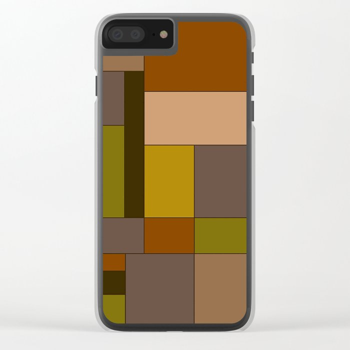 Abstract #370 Mondrian #6 Clear iPhone Case