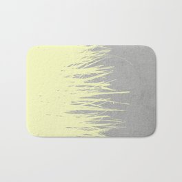 Concrete Fringe Yellow Bath Mat