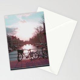 Biking in Amsterdam Stationery Cards