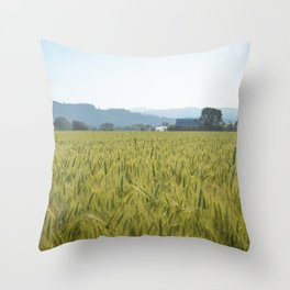 Country Fields Throw Pillow