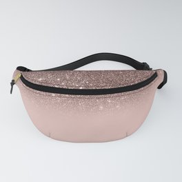 Rose Gold Glitter Ombre Fanny Pack