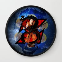 goku Wall Clocks featuring DBZ - Goku by Mr. Stonebanks