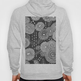 Asters rain in black and white Hoody