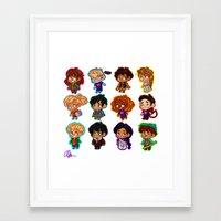 heroes of olympus Framed Art Prints featuring Chibis of Olympus by chubunu