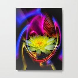Flower Magic -Water lily Metal Print