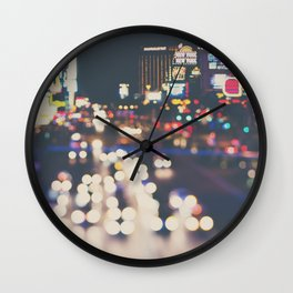 Las Vegas ... the neon town!  Wall Clock