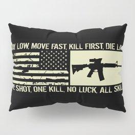 M4 Assault Rifle & Tactical Flag Pillow Sham