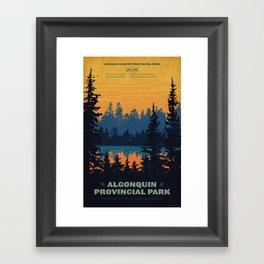 Algonquin Park Poster Framed Art Print