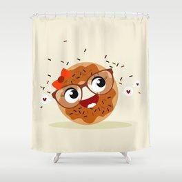 Donut caramel Shower Curtain