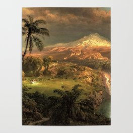 Passing Shower in the Tropics by Frederic Edwin Church Poster