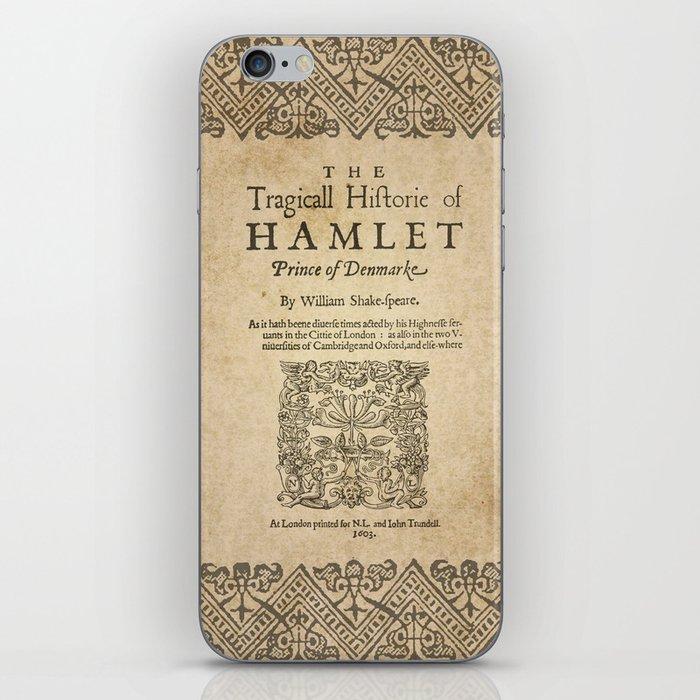 Shakespeare, Hamlet 1603 iPhone Skin
