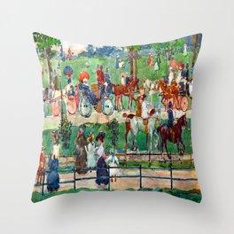 Maurice Prendergast Central Park Throw Pillow
