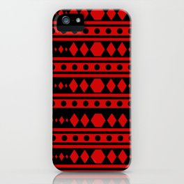 Tribal Red Pattern iPhone Case