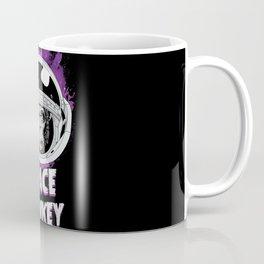 Space Monkey Retro Black Coffee Mug