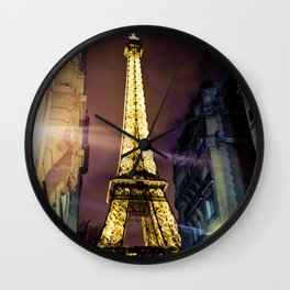 Paris La Nuit Wall Clock