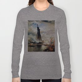 Statue of Liberty Unveiled by Edward Moran Long Sleeve T-shirt