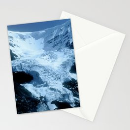 Mountain Glacier In The Shadows Of Late Afternoon Stationery Cards