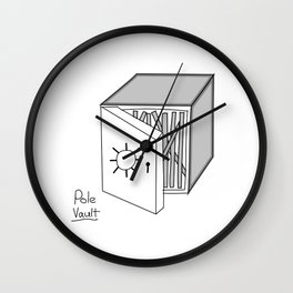 Pole vault Wall Clock