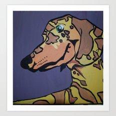 Charlie Rex Boomerang Art Print