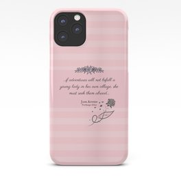She Must Seek Them Abroad (Northanger Abbey Quote) iPhone Case
