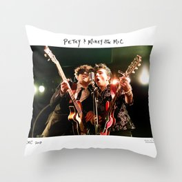 Birds in the Boneyard, Print One: Petey and Mikey on the Mic Throw Pillow