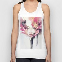 decorative Tank Tops featuring Bauhinia by Anna Dittmann