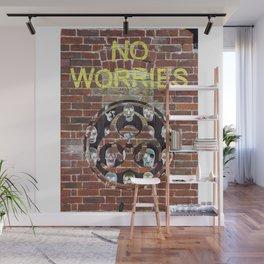 NO WORRIES 01 Wall Mural