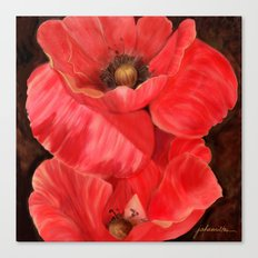Red Poppy One Canvas Print