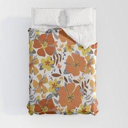 Hibiscus Flowers Duvet Cover