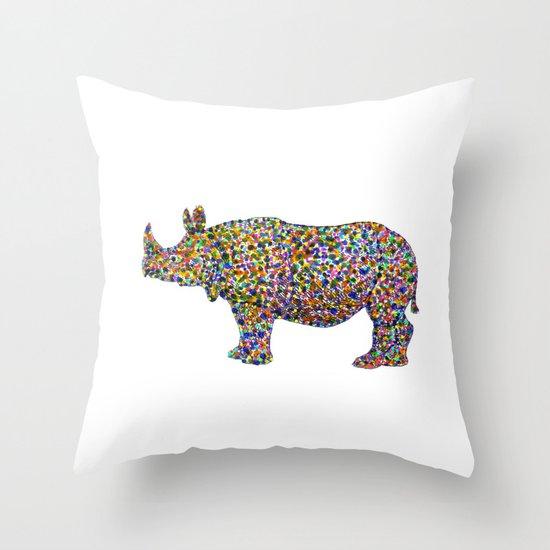 rhinocolor Throw Pillow