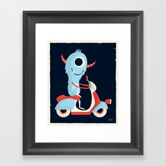 Get Around Framed Art Print