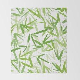 Bamboo Leaves Throw Blanket