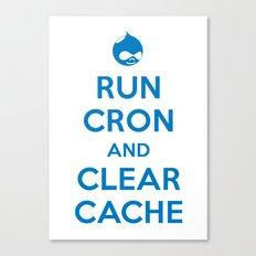 Run Cron and Clear Cache Canvas Print