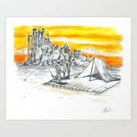Huck and Jim Wash Up in King's Landing Art Print