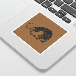 Blockprint Cheetah Sticker