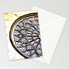 Gothic Rose Drawing Cathedral Barcelona Stationery Cards