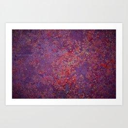 Red Moss Art Print