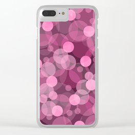 Pink Bubbles 2 Clear iPhone Case