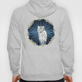 White Tiger with Orchid Grass Wreath Hoody