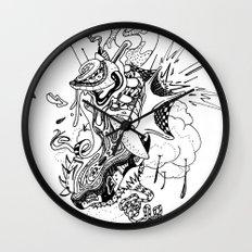 Ink Entanglement Wall Clock