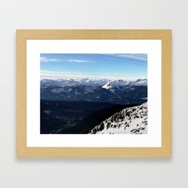 Crispy light air up here Framed Art Print