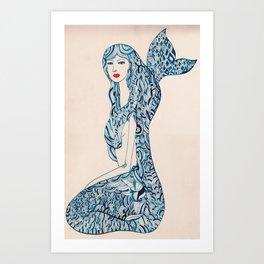 Portrait of a Mermaid Art Print