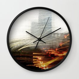 Lights and Tower Wall Clock