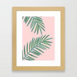 Pink Palms Tropical Vibes Framed Art Print