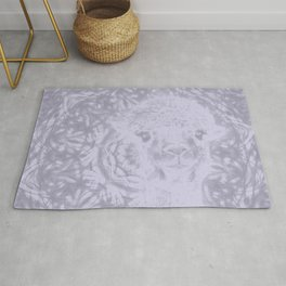 Ghostly alpaca and Lilac-gray mandala Rug