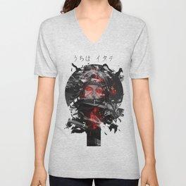 Uchiha Akatsuki Dark Monochrome Unisex V-Neck