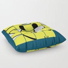 Acid Smiley Shuffle Puzzle Floor Pillow